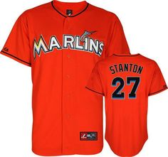 96370e3cb31 Miami Marlins 27 Mike Stanton Orange MLB Jerseys Mike Stanton