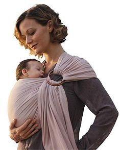 46cda818b30 Buy Luxury Ring Sling Baby Carrier – extra-soft bamboo and linen fabric -  lightweight wrap - for newborns