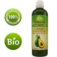 Avocado Oil For Hair Skin Nails Cold Pressed Antioxidant Nutrient Rich Oil Great as Massage Oil Anti-Aging Anti-Wrinkle Skin Care Shiny Hair With Vitamins A K E Healthy Fatty Acids for Women and Men. NUTRIENT RICH MOISTURIZER: Cold pressed Avocado oil is an antioxidant rich light and emollient natural moisturizer which has a multitude of hydrating benefits for hair skin face and nails. It is also makes an effective massage oil as well. This pure refined avocado oil has the unique ability…