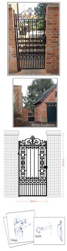 Winchester Pedestrian Gate - Peter Weldon Iron Designs Ltd
