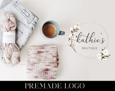 Bakery Business, Business Branding, Organic Logo, Floral Logo, Baby Wearing, Warm And Cozy, Light In The Dark, Logo Design, Rose Gold