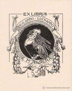 EX LIBRIS DE ALEXANDRE DE RIQUER PARA M. PARERA- 1902