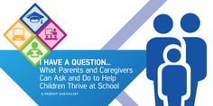 Parent Checklist - I HAVE A QUESTION... What Parents and Caregivers Can Ask and Do to Help Children Thrive at School