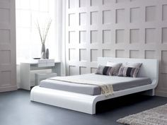 Bedroom design ideas white furniture wall design bed frame dressing table