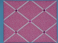Pink polka dot french memo board, 16 x 20, by two dot designs on Etsy