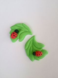 Ladybug handmade fondant cupcake toppers made by FancytopCupcake on Etsy, $15.00