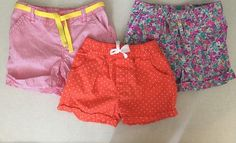 Carters Girls Size 6/6X, Mixed Lot Of 3 Pairs Of Pull On Shorts  | eBay