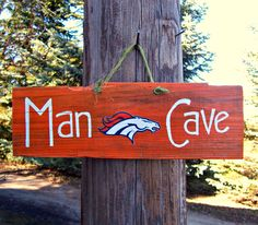 DENVER BRONCOS Hand Painted Barn Wood Man Cave Sign