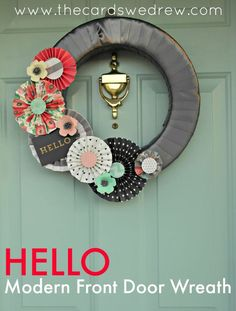 Modern Front Door Wreath -- Tatertots and Jello