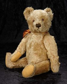 """""""Interlude"""" - Marquis Catalogued Auction - March 11, 2017: 211 German Curly Mohair Teddy Bear by Steiff with Original Steiff Button"""