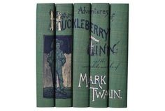 Perfect -- S/5 Mark Twain Book Set from One Kings Lane
