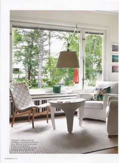 Jennylund armchairs from IKEA with Soft White covers from Bemz featured in Swedish Skona Hem nr10 2012.