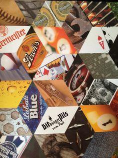 Tumbling Blocks paper collage