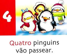 Pra Gente Miúda: Números e Poesia: Pinguins Bowser, Winnie The Pooh, Disney Characters, Fictional Characters, Image, Atv, Kids Activity Ideas, Poetry For Kids, Pansy Flower