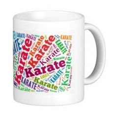 Tasse mit Text Karate