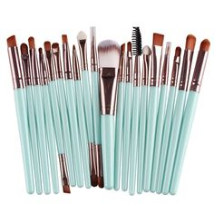 Pretty brushes... for makeup that I want? Very cheap with good reviews: Only about $4 with 20 brushes!