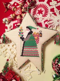 Heartstrings, The Star Gatherer - 2014 Just Cross Stitch Christmas Ornament issue
