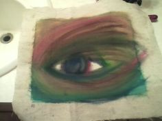 So i just did this sitting kin my room listening to music. Believe it or not, no paint or paintbrush was used.