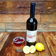 Stop into the Brooklyn Winert wine bar and try our featured cocktail the Bedford Sour! Bold and vibrant like Williamsburg's main avenue, this cocktail combines Whiskey and Fresh Lemon Juice, topped with a Brooklyn Winery Old Vine Zinfandel float.