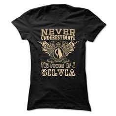 Never Underestimate The Power of SILVIA Woman Cool Shir - #gift ideas #novio gift. LIMITED TIME => https://www.sunfrog.com/LifeStyle/Never-Underestimate-The-Power-of-SILVIA-Woman-Cool-Shirt-.html?68278