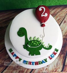 Luke Dinosaur Birthday Cake