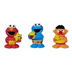 Cookie Monster, Ernie, and Elmo are wearing their swim trunks and ready to play! These collectible Sesame Street squirt toys are sure to make bath ...