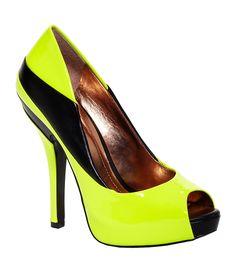 BCBGeneration Liberty Peep-Toe Pumps   Dillards.com  #fashion #shoes #neon