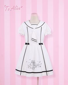 Sailor *Navy Cat* Embroidery OP Lolita Dresses