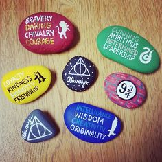 Painted rock / rock painting / rock art / painted stones / Harry potter / Harry potter rock