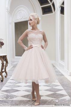 house-of-mooshki-fall-2014-lily-blush-tea-length-wedding-dress