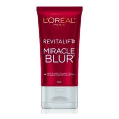 L'Oreal Revitalift Miracle Blur. Apply after moisturizer, before foundation. Fine lines. . . blurred!