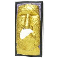株式会社ロータリー・ヒロ / おもしろティッシュケース フェイス「黄金のモアイ」