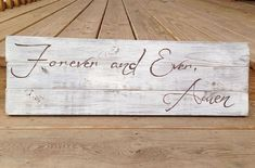 Forever and Ever Amen Song Lyrics Wedding by OurWordsOfWoodsdom