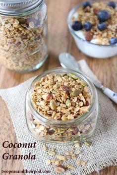 Coconut Granola (Two Peas and Their Pod) #vegan #granola #coconut