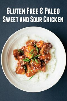 Sweet and Sour Chicken from Paleo Takeout :: Gluten-Free, Grain-Free, Dairy-free My sons gonna love it Real Food Recipes, Chicken Recipes, Cooking Recipes, Healthy Recipes, Paleo Food, Healthy Options, Healthy Food, Paleo Dinner, Dinner Recipes