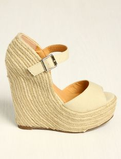 ahh wanted one of these heeled covered wedges for a bit now!