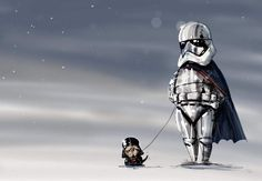 Captain Phasma with Darth Pug by MJ Hiblen