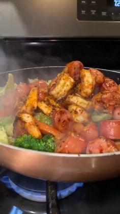 Yummy Pasta Recipes, Seafood Recipes, Keto Recipes, Chicken Recipes, Cooking Recipes, Healthy Recipes, Shrimp Dinner Recipes, Soul Food Recipes, Healthy Snacks