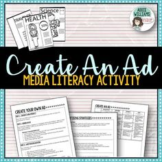 Advertising / Media Unit Activity - Students create their own ad, based on advertising techniques. They must then justify their work by writing a paragraph explaining their choices.