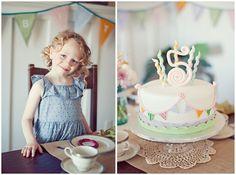 Vintage 5th Birthday Party pretty pastels  #party #kids #birthday