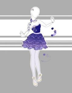 ::Outfit Adoptable by Scarlett-Knight on DeviantArt Drawing Anime Clothes, Dress Drawing, Clothing Sketches, Dress Sketches, Fashion Design Drawings, Fashion Sketches, Drawing Fashion, Modelos Fashion, Anime Dress