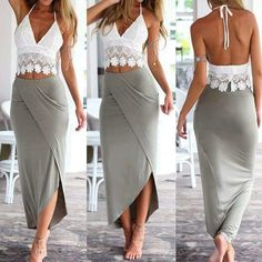 White dress outfit business 16 ideas for 2019 Womens Fashion Casual Summer, Trendy Fashion, Fashion News, Boho Fashion, Fashion Dresses, White Dress Outfit, Dress Lace, Style Africain, Moda Emo