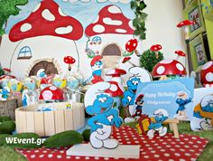 smurfs village birthday party ideas