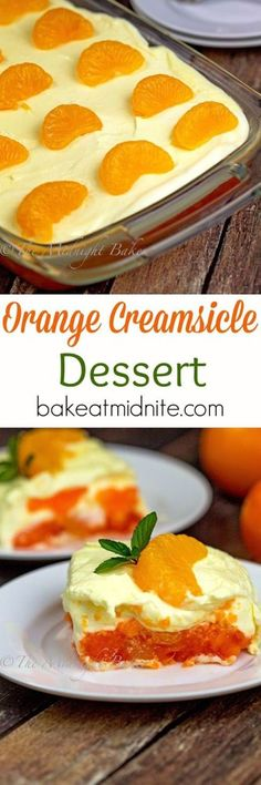 Orange Creamsicle Dessert   bakeatmidnite.com   #gelatin #desserts #nobake #recipe