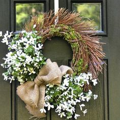This white wreath is perfect for summer time.