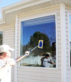 """HOMEMADE STREAK-FREE WINDOW CLEANER: 1/2 bottle of """"Jet Dry"""" (about 3.5 oz), 4 T rubbing alcohol, 1/4 Cup Ammonia, 1/4 cup powdered dish-washer soap, 2 Gallons Hot Water - Spray window with water. Scrub window with solution. Spray window with water. Let air dry and enjoy!"""