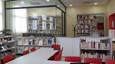The new library opened its doors in November 2011 with the name of Ana . Casablanca, Spanish Tenses, Learning Spanish, Bookcase, Htm, Names, Shelves, Doors, Home Decor