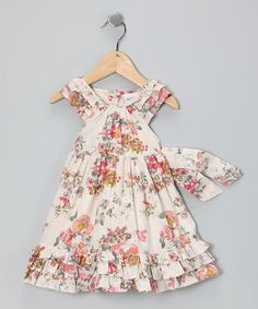 Loving this Cream Petal Dress - Infant on #zulily! #zulilyfinds