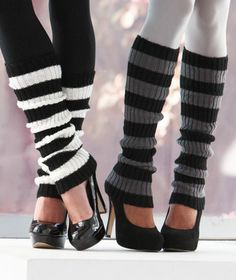 2-Pr. Leg Warmers | LTD Commodities Stripes $7.95