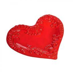 """La Vita Vera Mamma Ro 9"""" Heart Plate in Orange - 105F-80-Orange"""